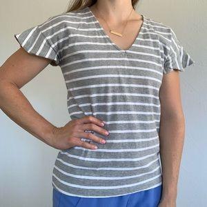 Jcrew stripe top with cute detail